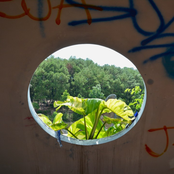 vietnam with kids hue abandoned waterpark window view