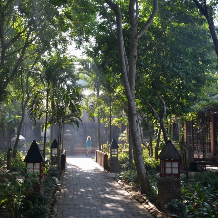 vietnam with kids hue pilgrimage hotel entrance