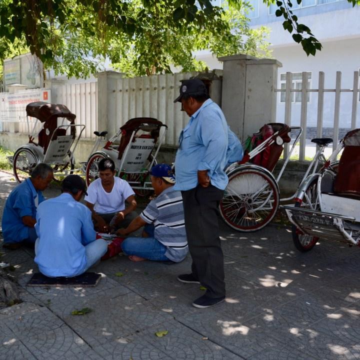 vietnam with kids hue nam giao rickshaw driver
