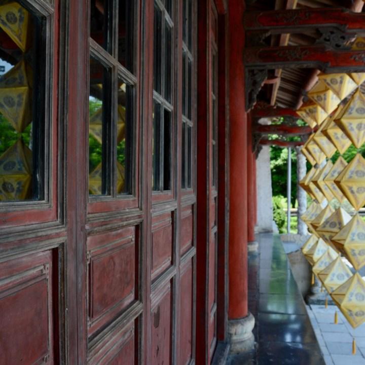 vietnam travel with kids hue citadel thai hoa palace lantern