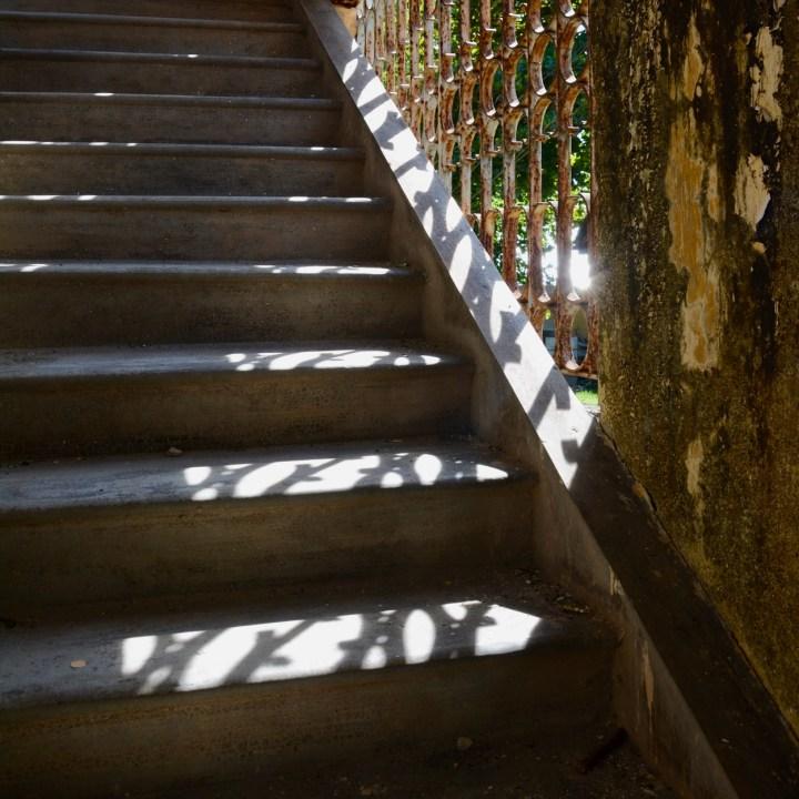 vietnam travel with kids hue citadel stairs
