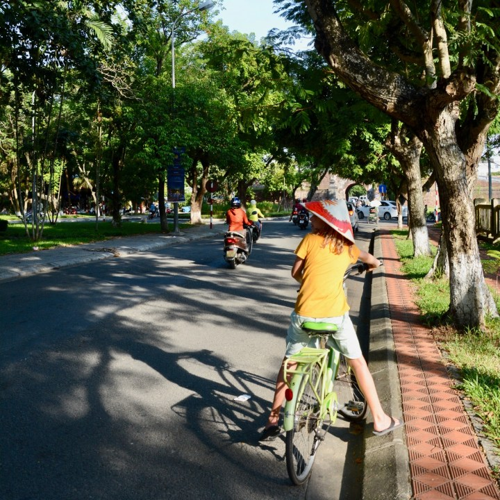 vietnam travel with kids hue cycling tour