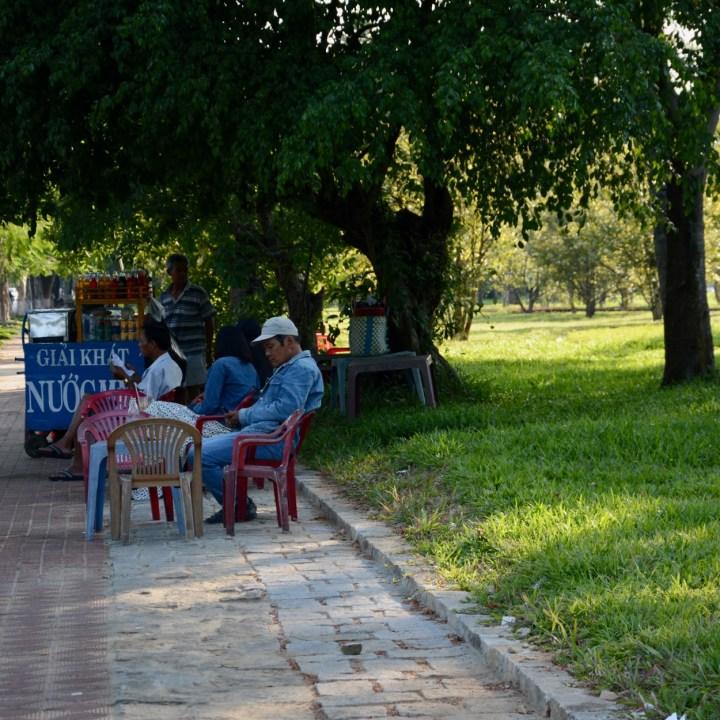 vietnam travel with kids hue street stall