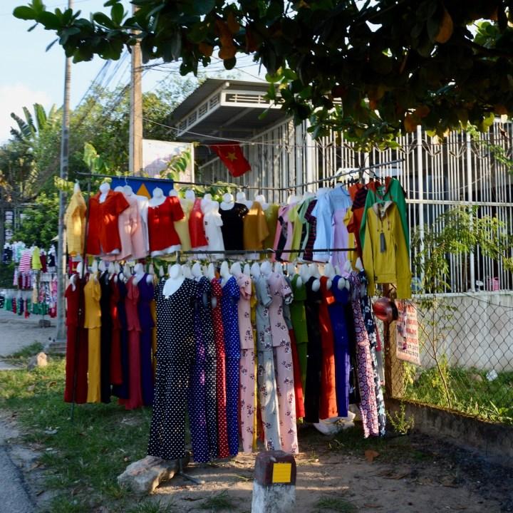 vietnam travel with kids hue clothes shop