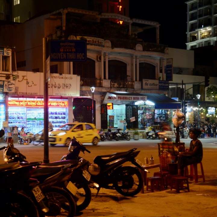 vietnam with kids hue evenings street stall