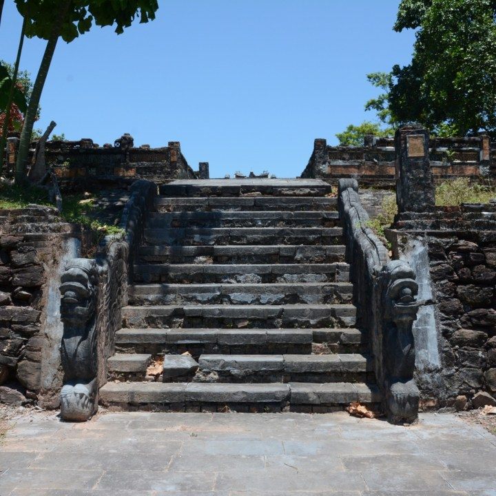 vietnam travel with kids hue Tomb of King Thieu Tri stairs