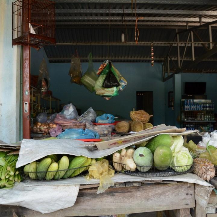 vietnam with kids hue street stall