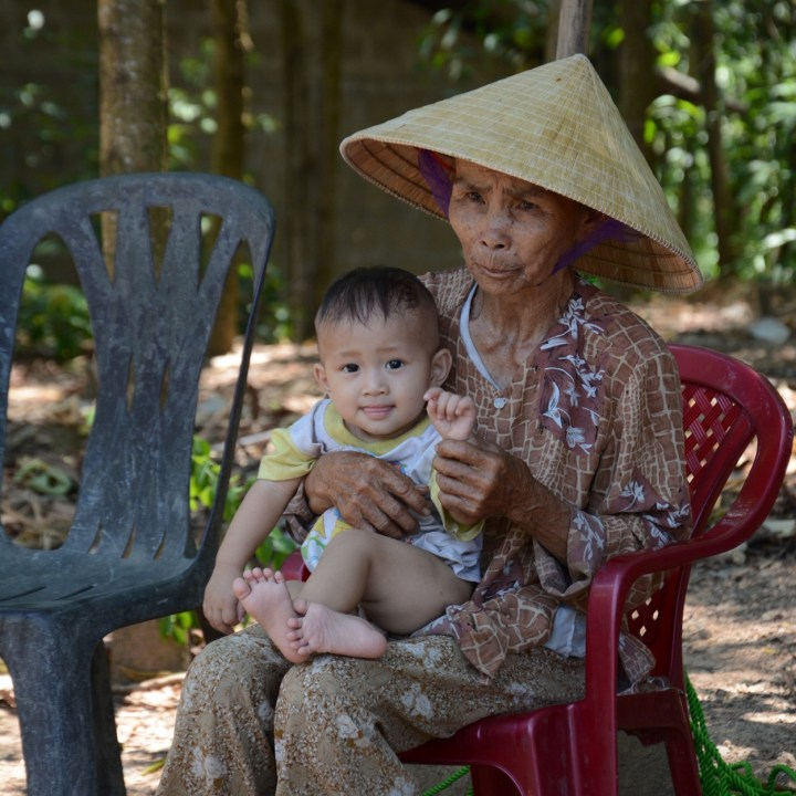 vietnam with kids hue grandma baby
