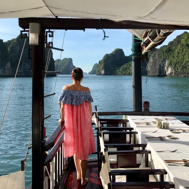 vietnam with kids ha long bay early morning light