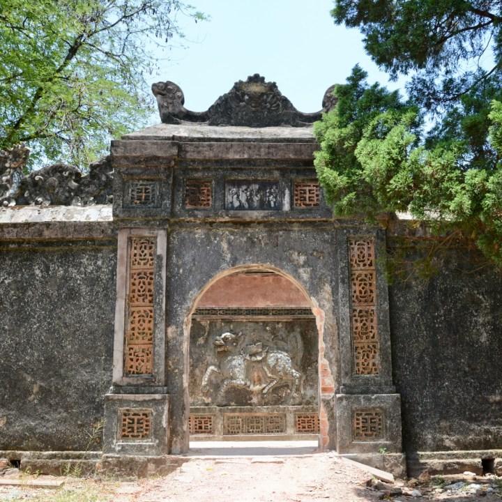 vietnam with kids hue tu duc tomb gate
