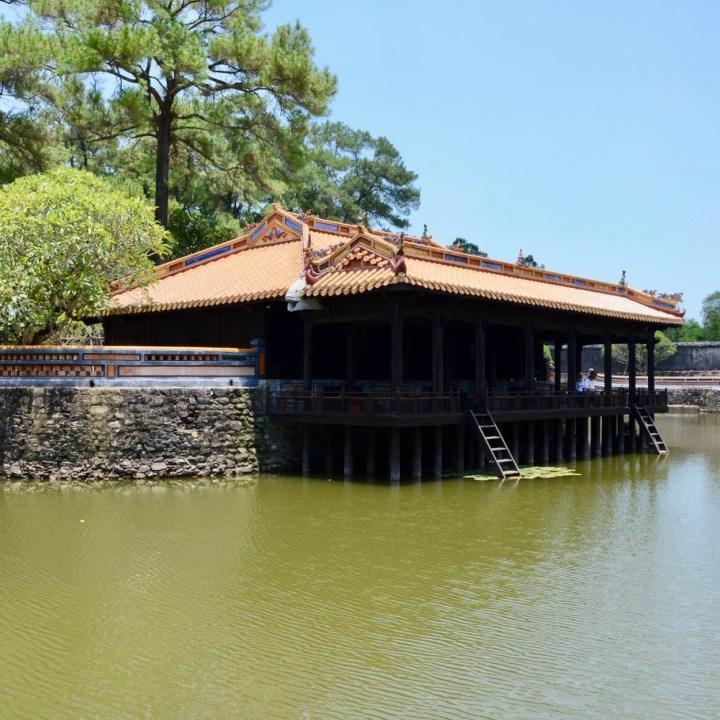 vietnam with kids hue tu duc tomb xung khiem pavilion