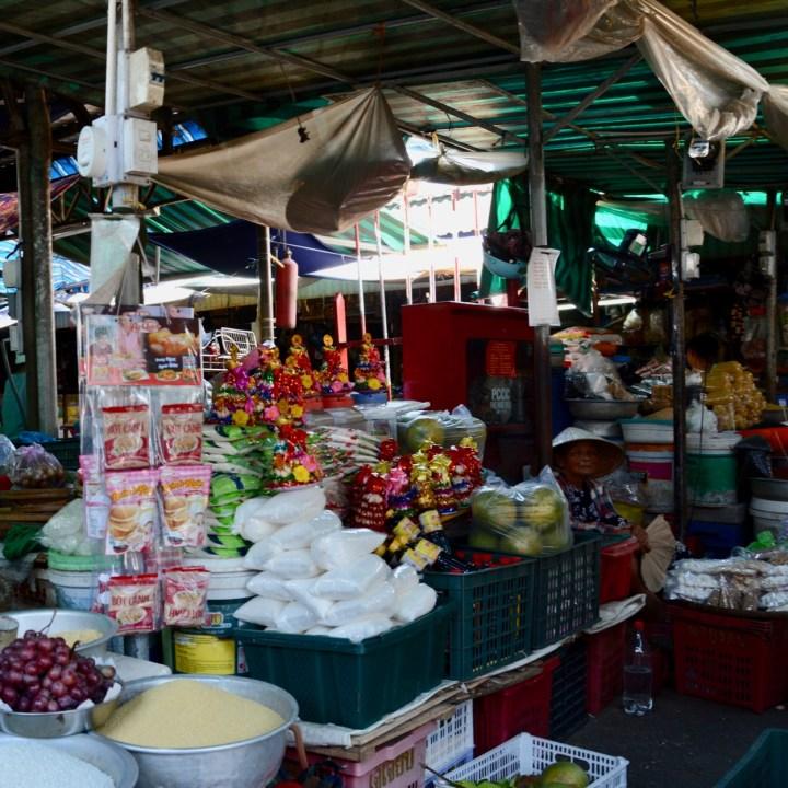 vietnam with kids hue market old lady