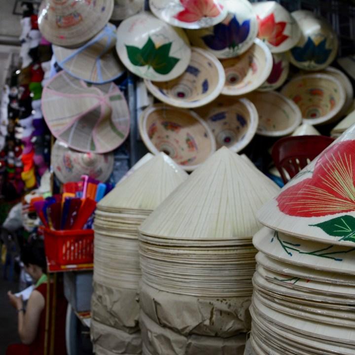 vietnam with kids hue market non la