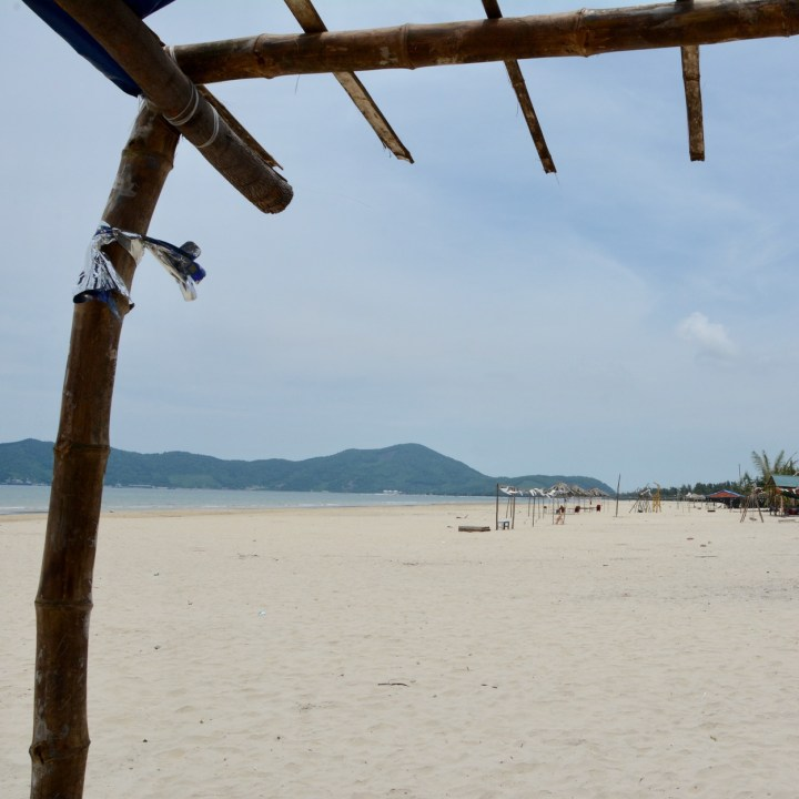 vietnam with kids chan may beach view
