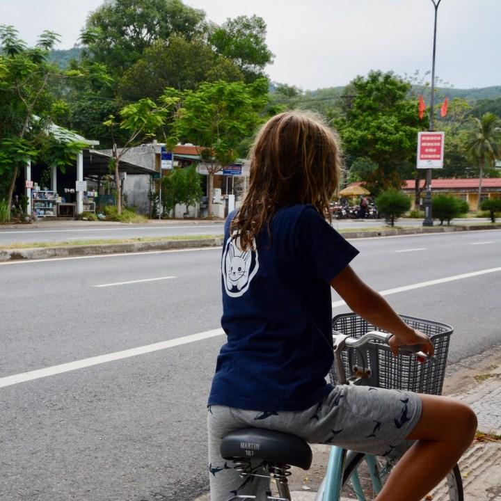 vietnam travel with kids vedana lagoon cycling