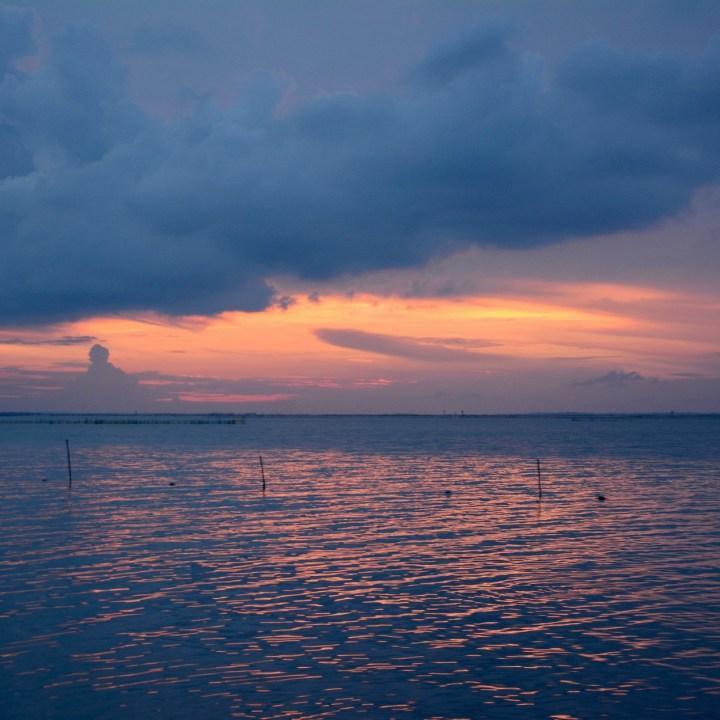 vietnam with kids vedana lagoon sunset colours