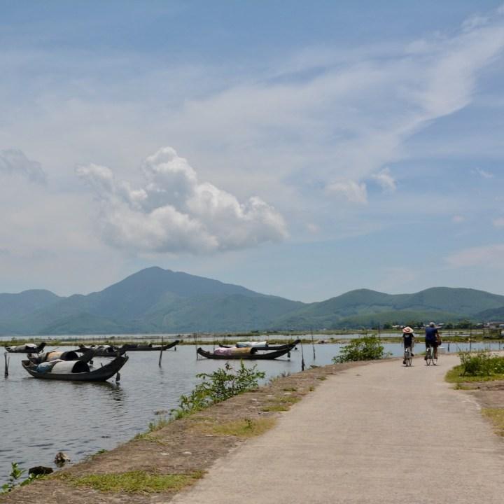 vietnam with kids cai lau lagoon cycling tour