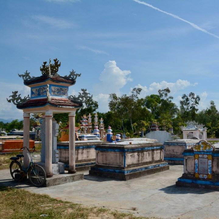 vietnam with kids cai lau lagoon graves