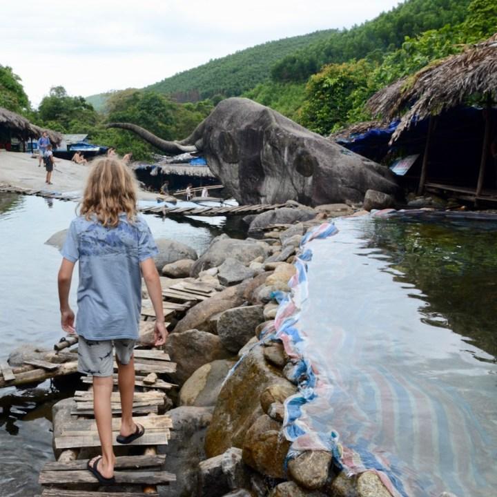 vietnam travel with kids elephant springs