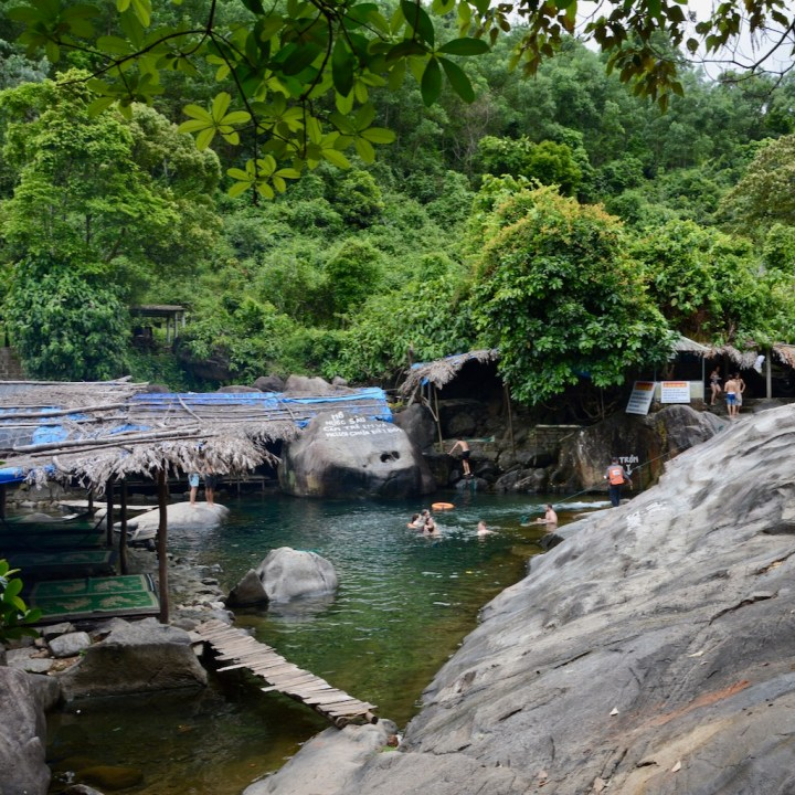 vietnam travel with kids elephant springs pool