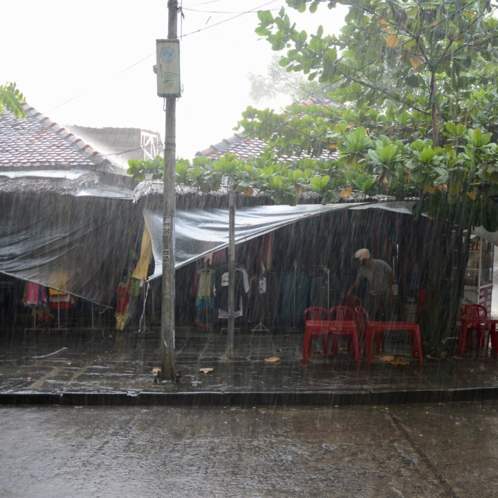 vietnam with kids hoi an heavy rain