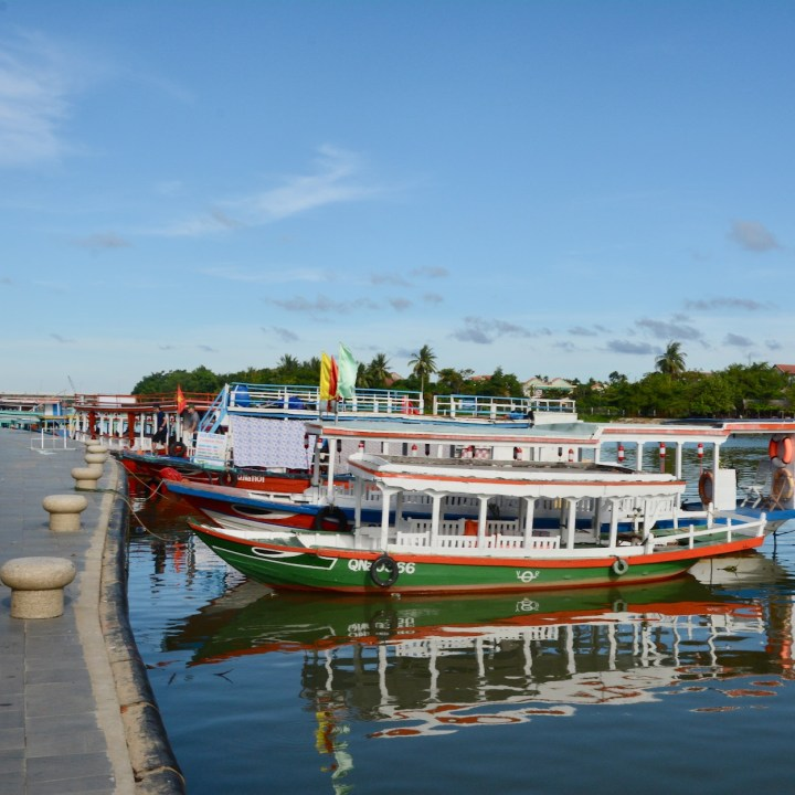 hoi an with kids river boats