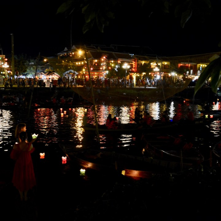 hoi an by night with kids candle