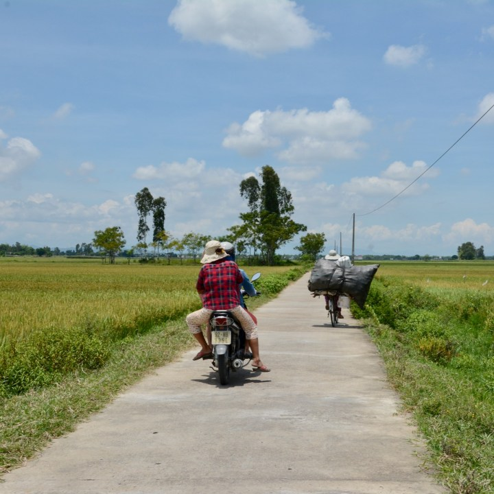 vietnam travel with kids hoi an rural bike ride motorbikes
