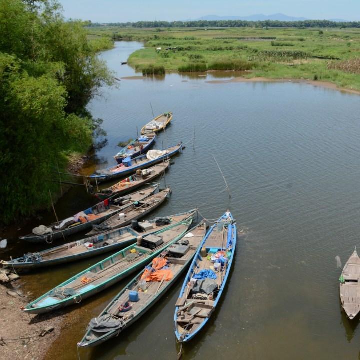 vietnam travel with kids hoi an rural bike ride fishing boats