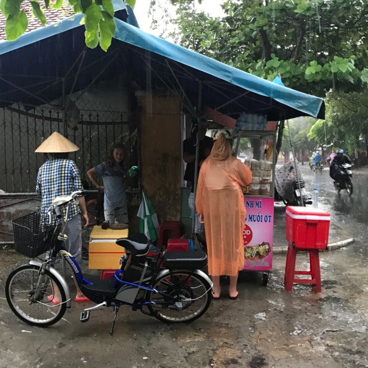 vietnam with kids hoi an banh mi stand