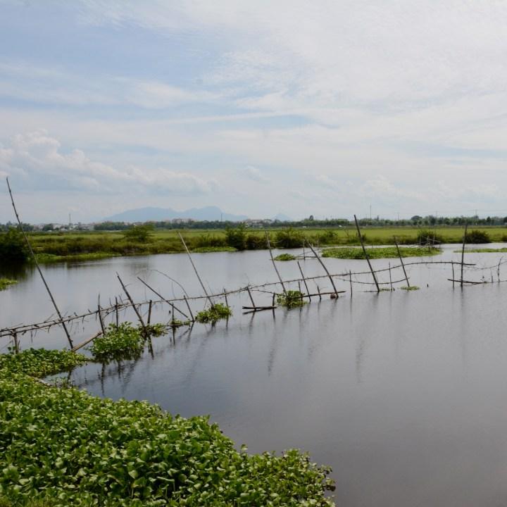 vietnam with kids an bang bike tour lake