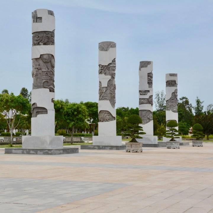 travel with kids vietnam mother vietnam monument columns