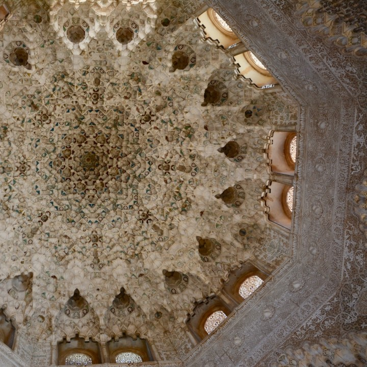 alhambra with kids nasrid palace dome ceiling