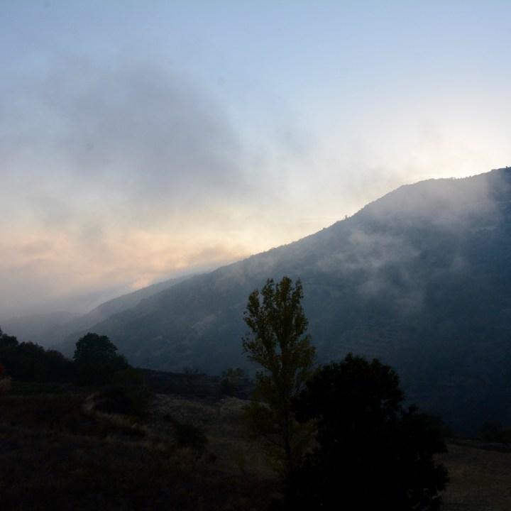 las alpujarras with kids bubion evening fog