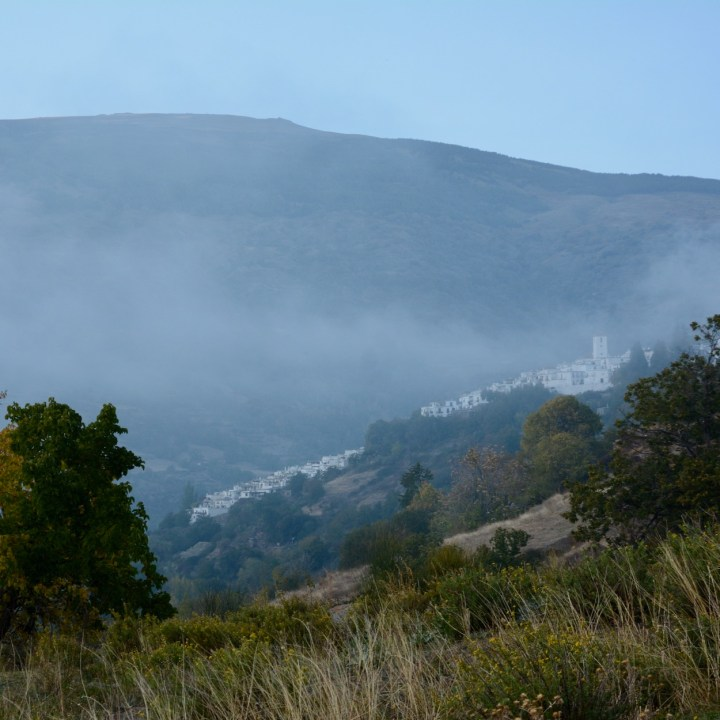 las alpujarras with kids bubion capileria in the fog