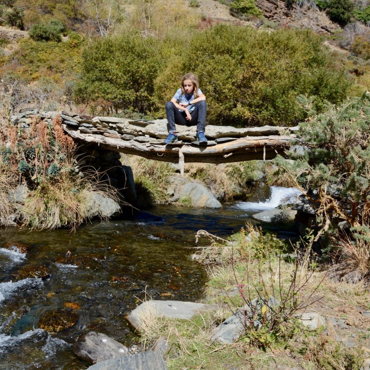 hiking with kids las aplujarras poqueira gorge break time
