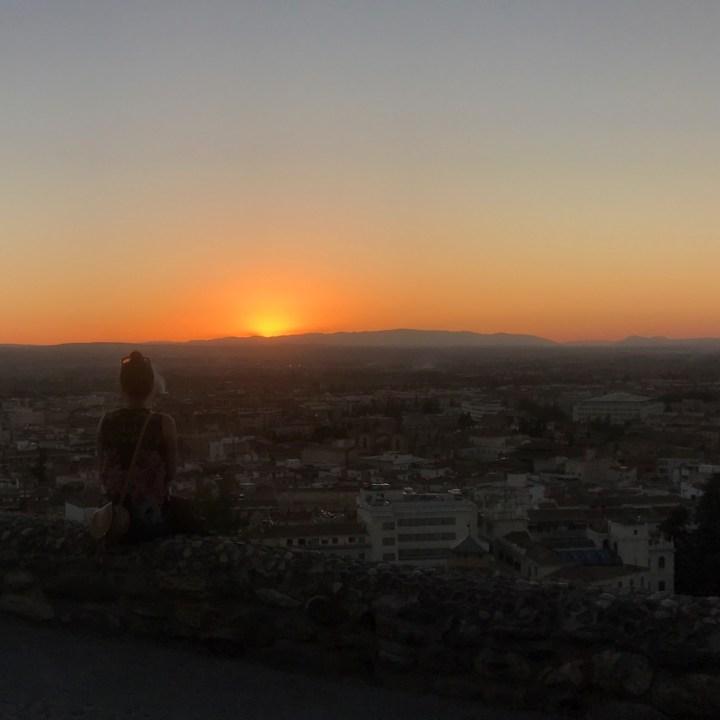 Granada spain with kids sunset spot