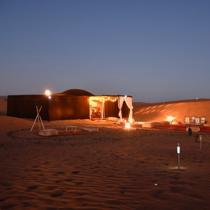 Morocco with kids erg chigaga camp adounia