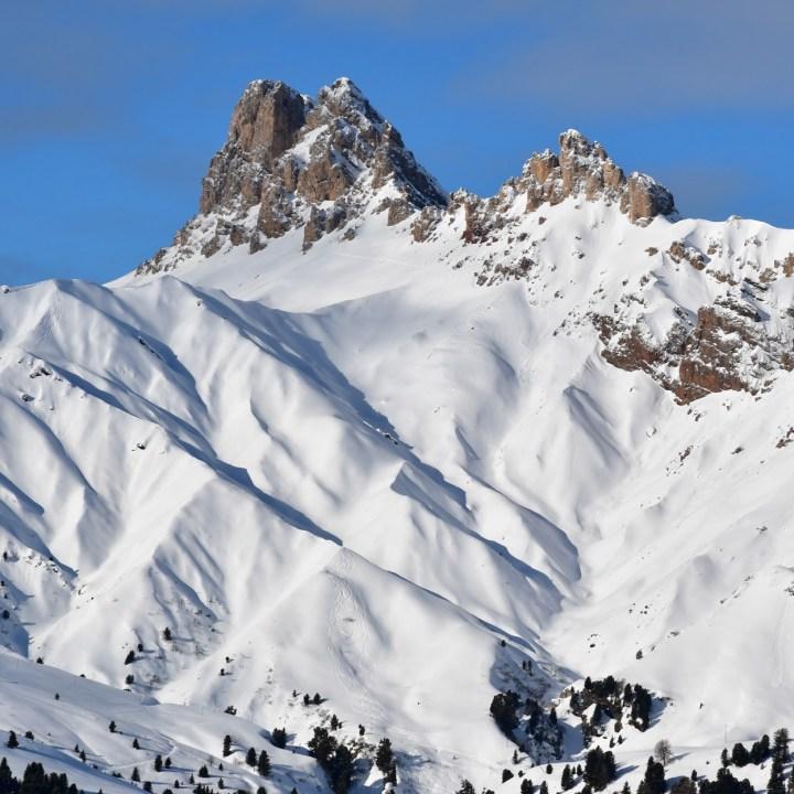 seiser alm skiing with kids dolomites mountains