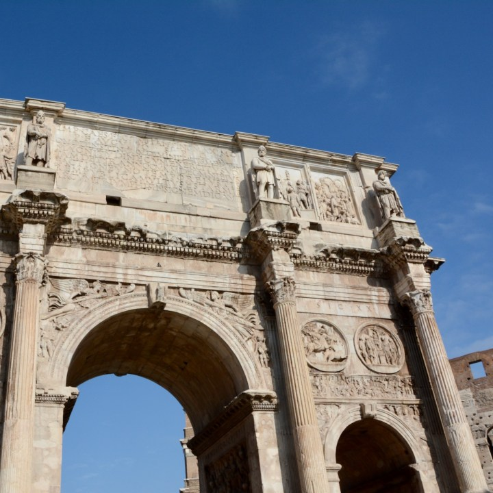 colosseum rome with kids arch