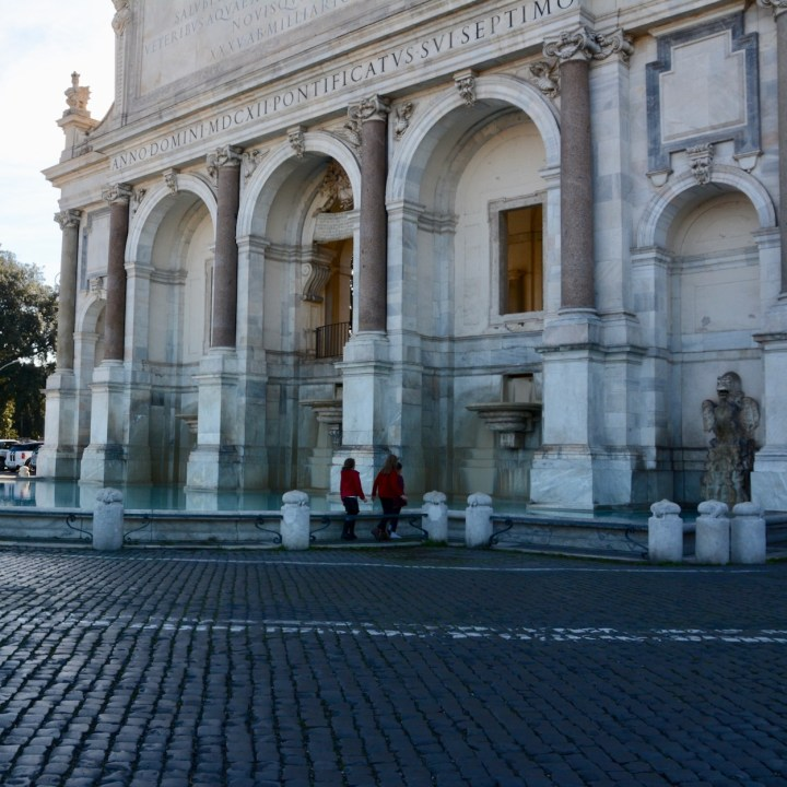 Rome with kids dell acqua paola fountain