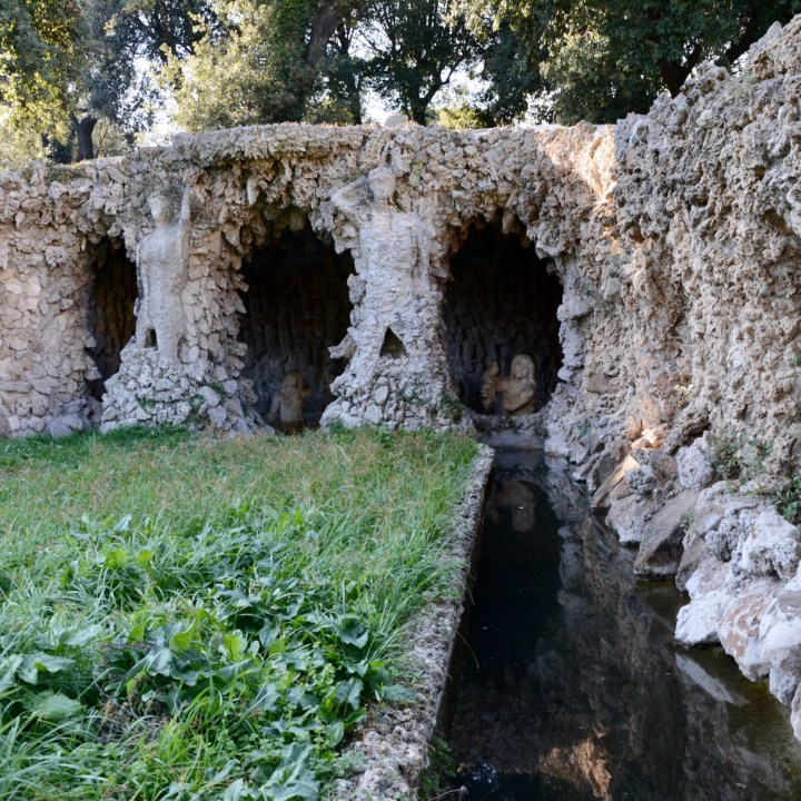 Rome with kids park villa doria pamphilj grotto