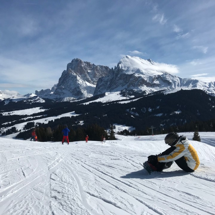 seiser alm skiing with kids goldknopf