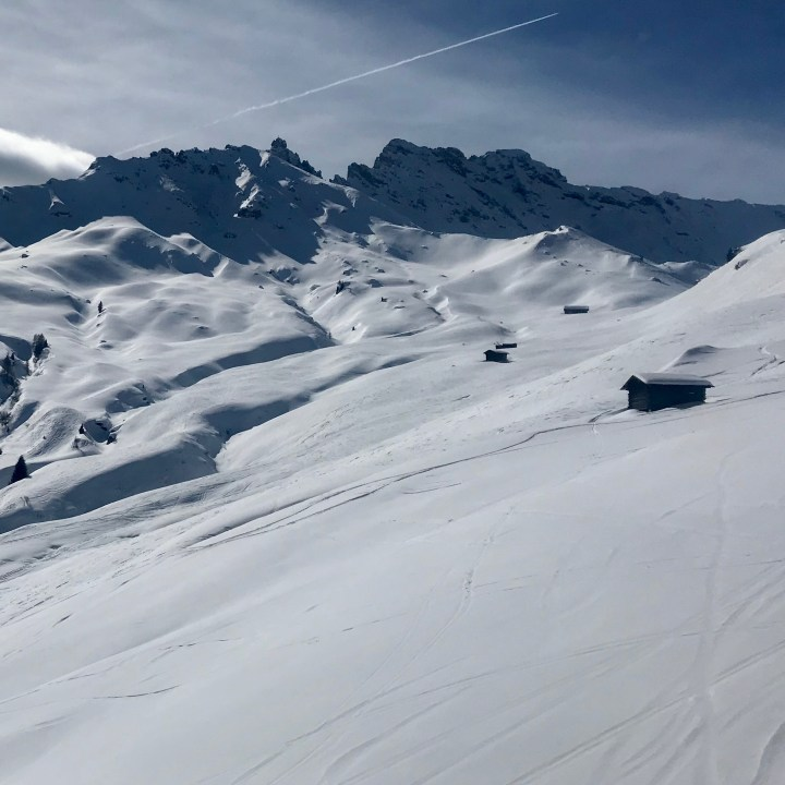 seiser alm skiing with kids clear skies