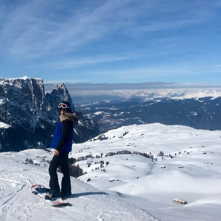 seiser alm skiing with kids schlern