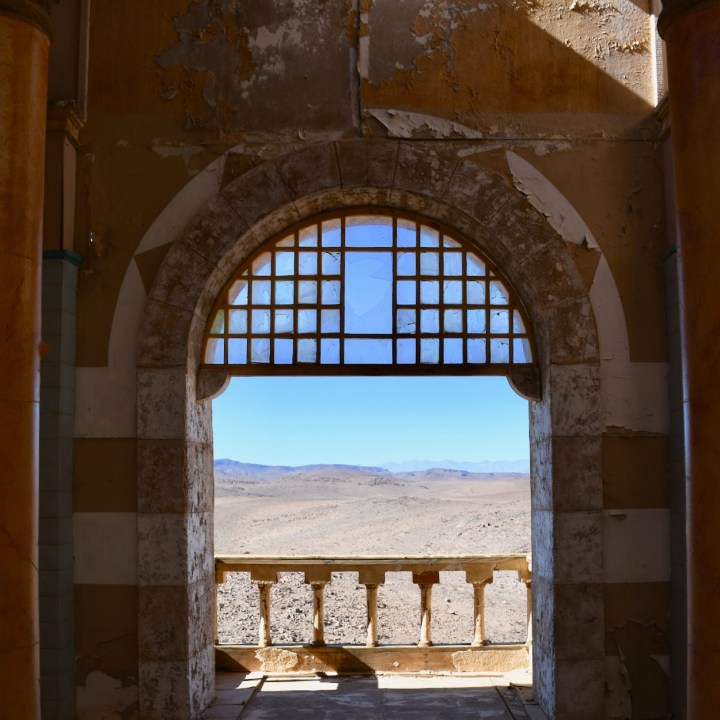Ouarzazate Morocco with kids abandoned filmset hamam