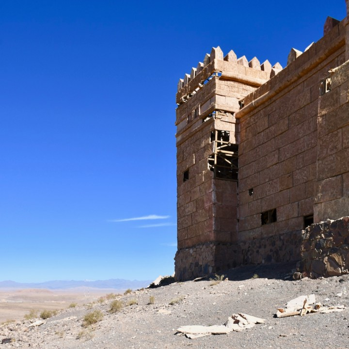 Ouarzazate Morocco with kids abandoned filmset tower
