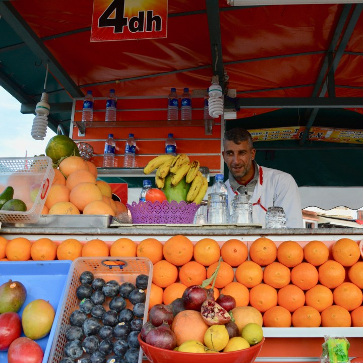 morocco with kids juice stand