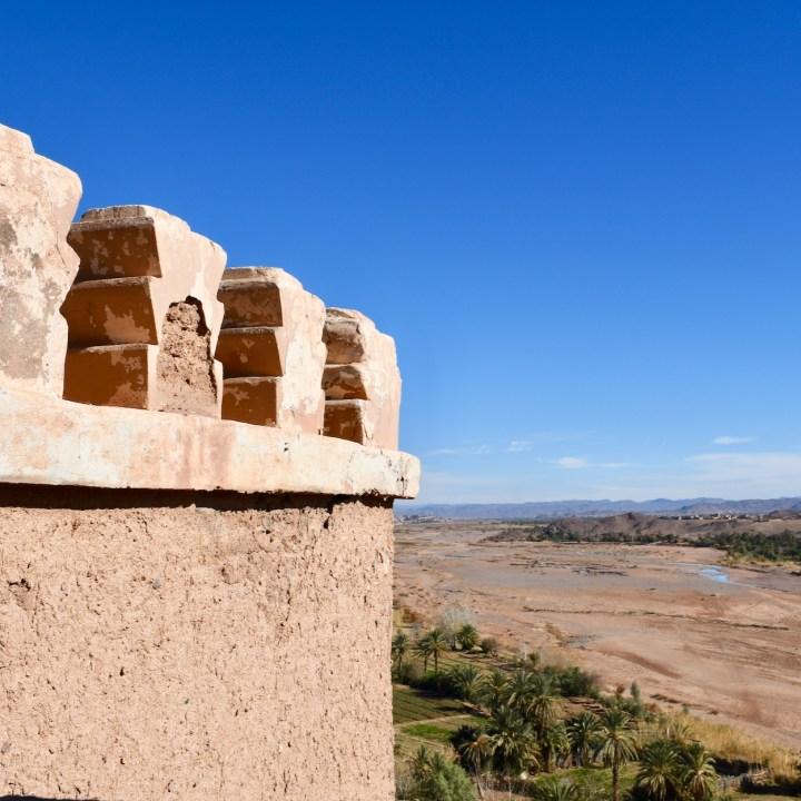 Tifiltoute with kids Morocco mountain view