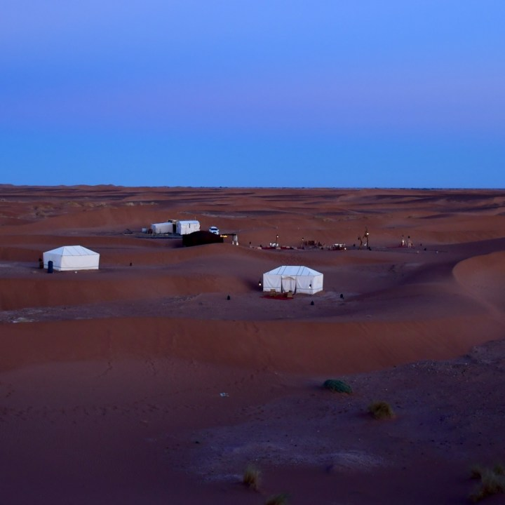 La Kahena luxury camp Erg Chigaga Sahara our tent
